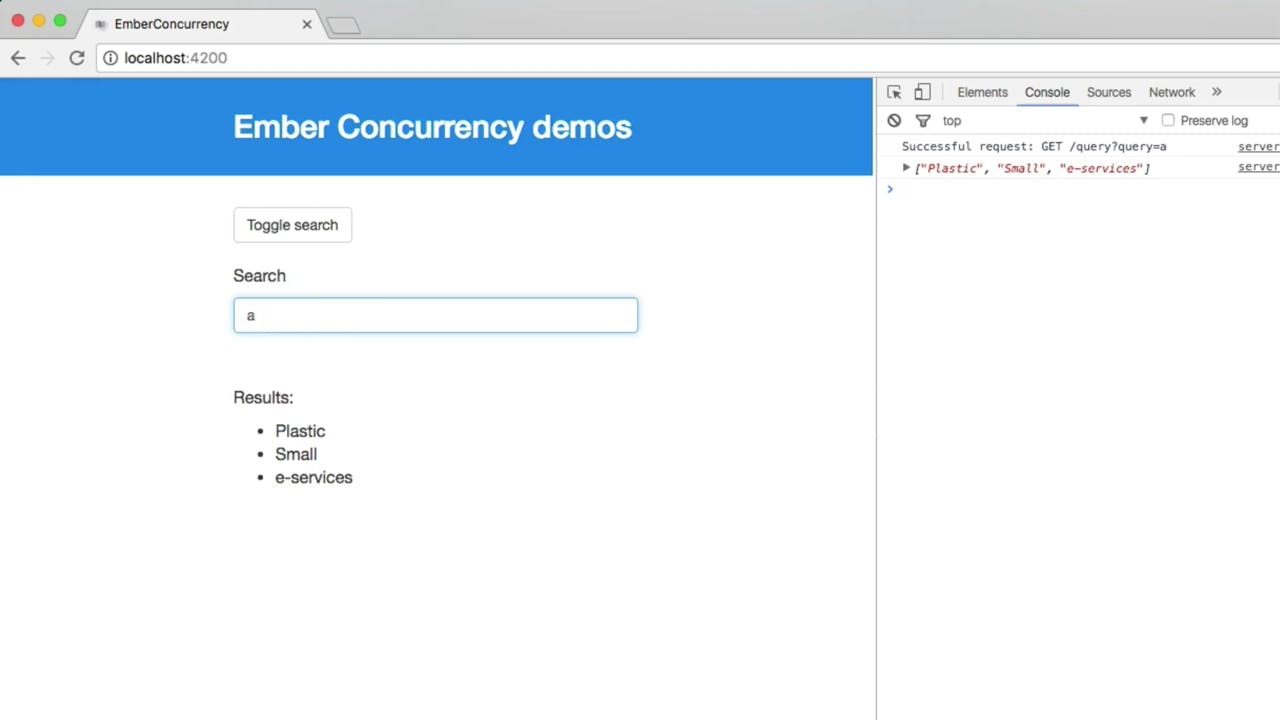 Our first task: an autocomplete searchbox | Ember